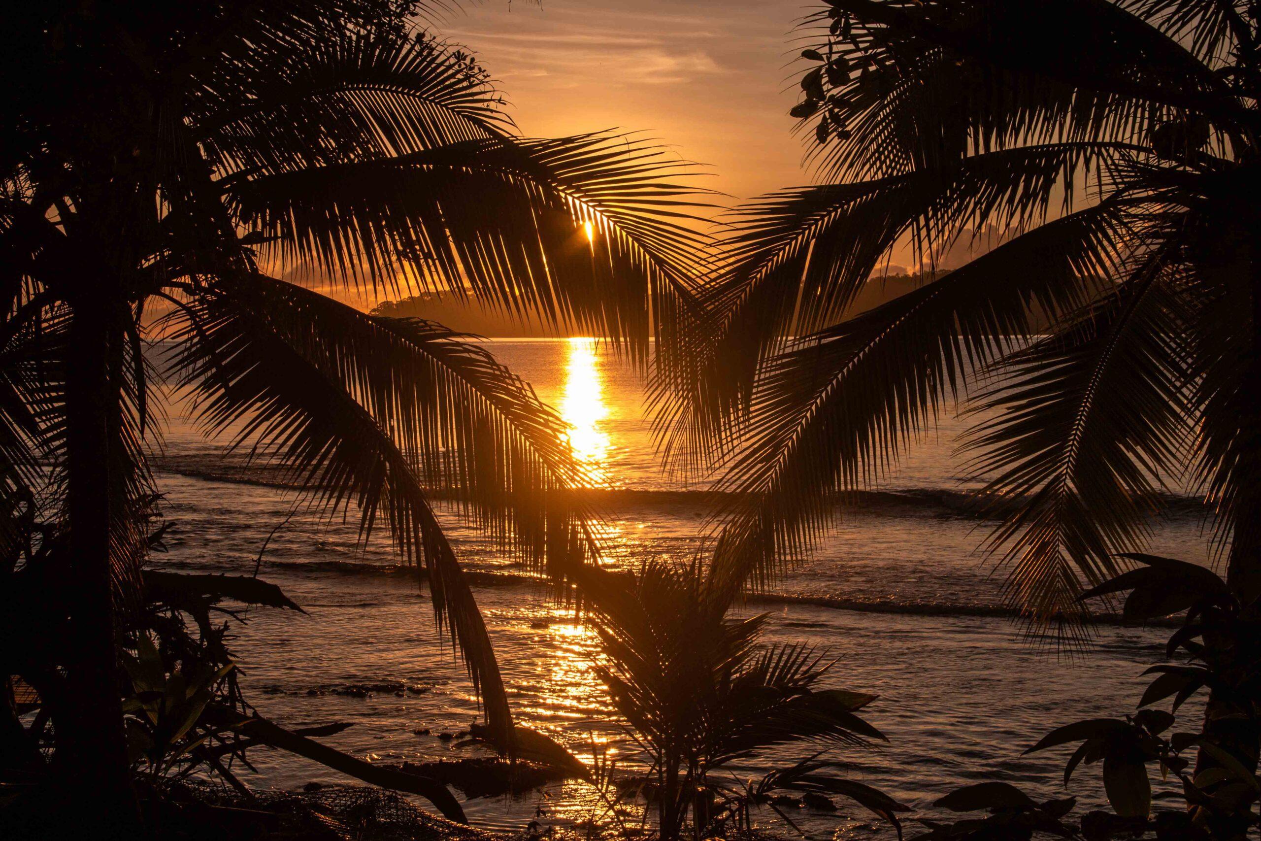 Sunset at Bocas del Drago Panama