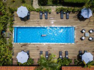 swimmingpool Island Plantation drone shot