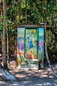 Toilet at Playa Estrella Bocas del Toro