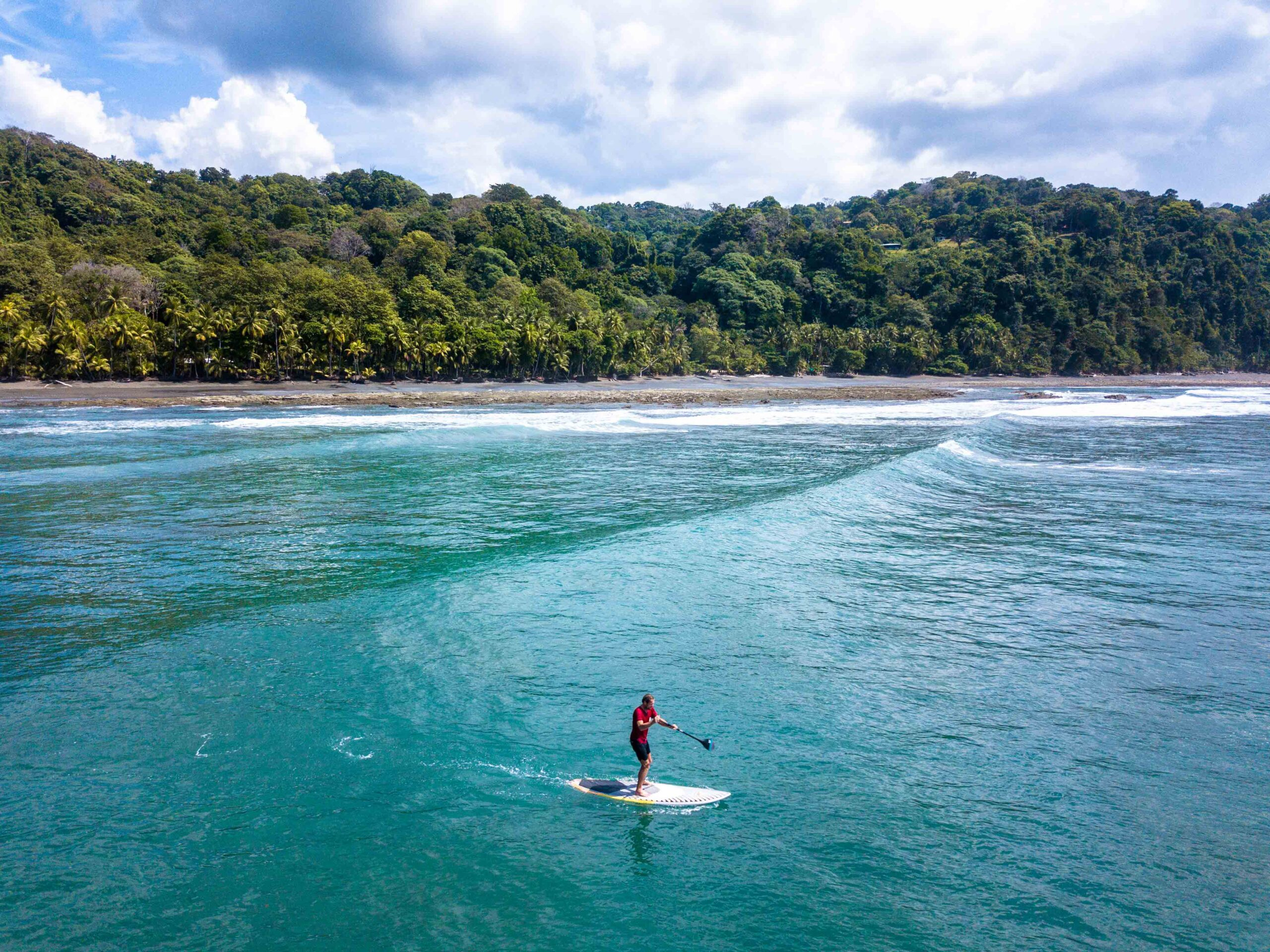 Stand up paddle boarding in Punta Banco Costa Rica