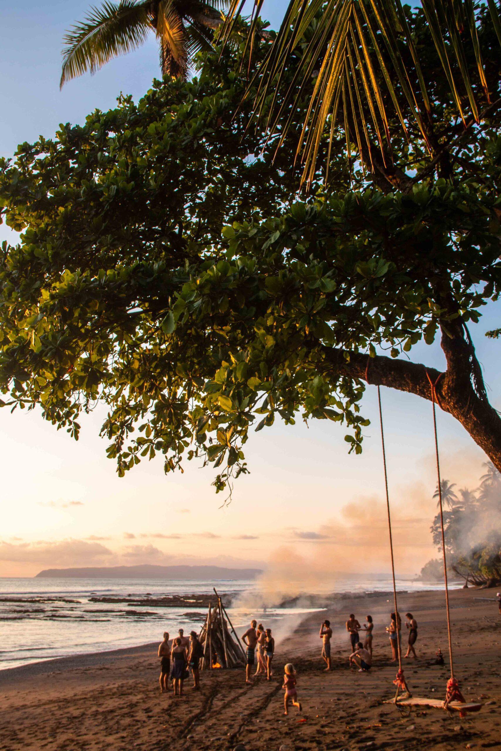 beach bonfire Rancho Burica Costa Rica