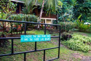 entrance Rancho Burica Costa Rica