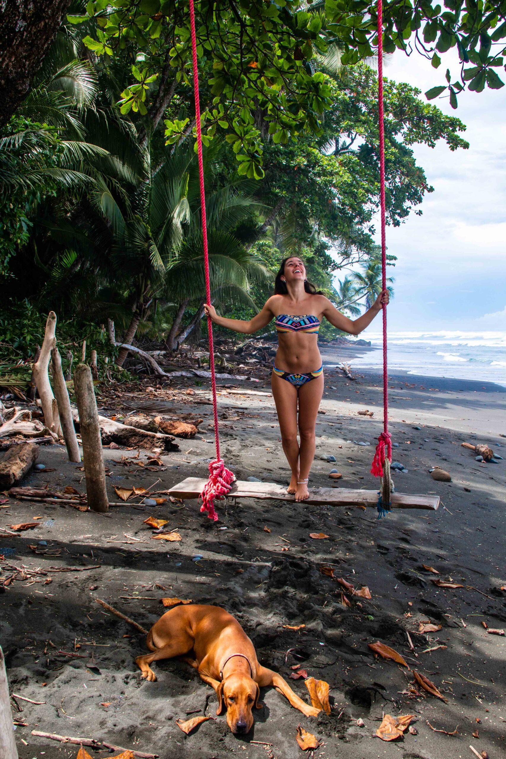 beach swing Rancho Burica Costa Rica