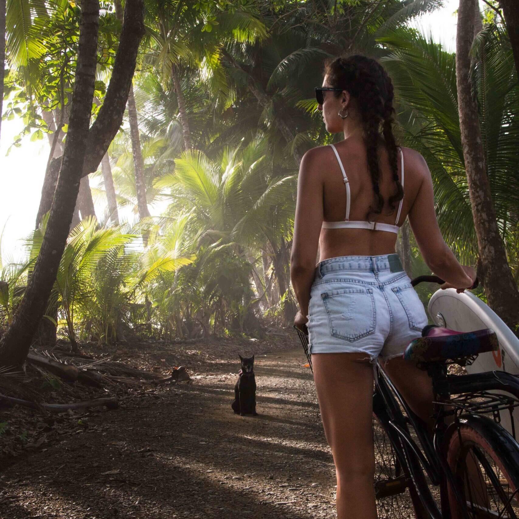 surfer girl bicycle rancho burica punta banco