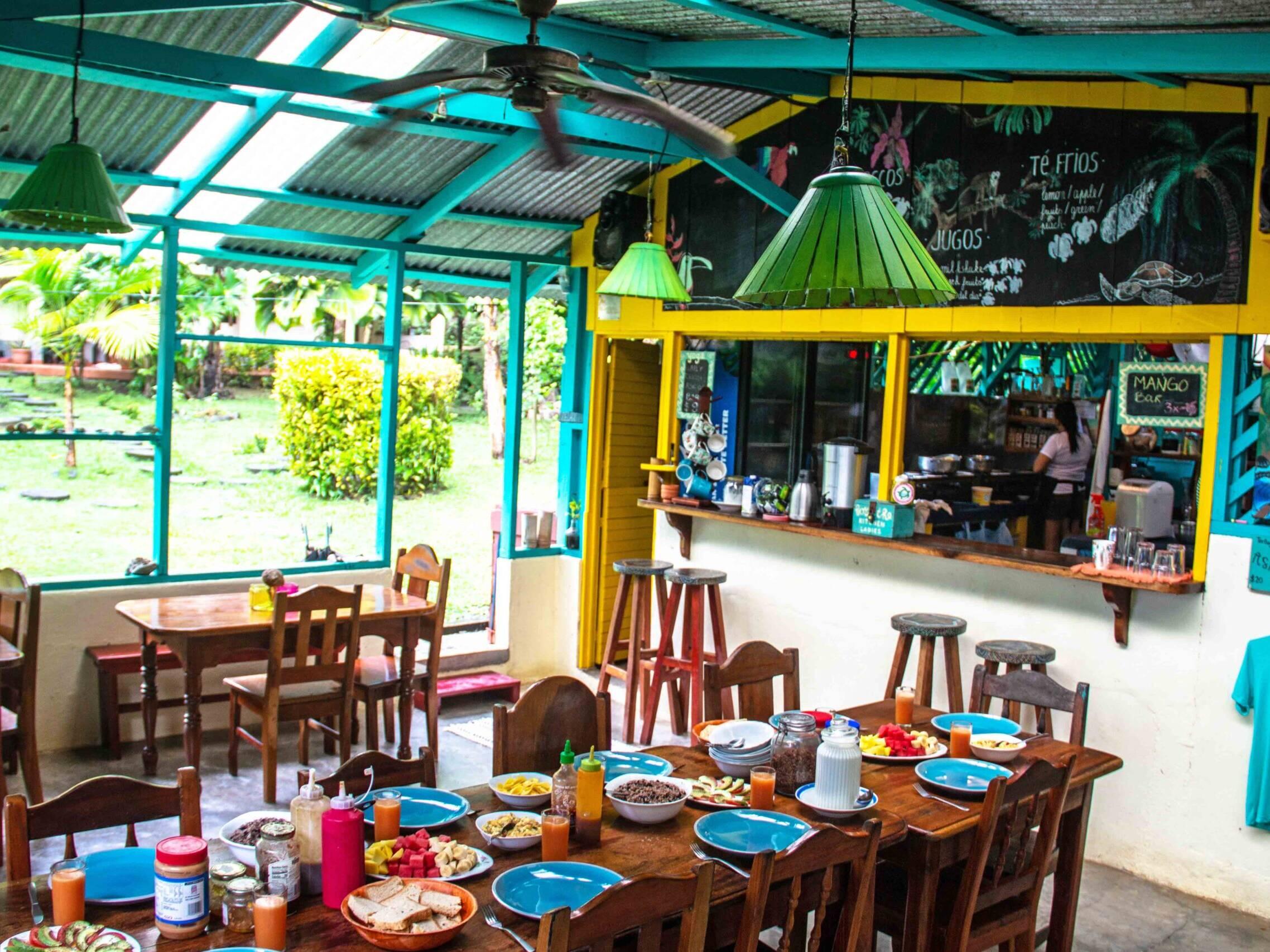 Surf retreats breakfast at Rancho Burica Costa Rica