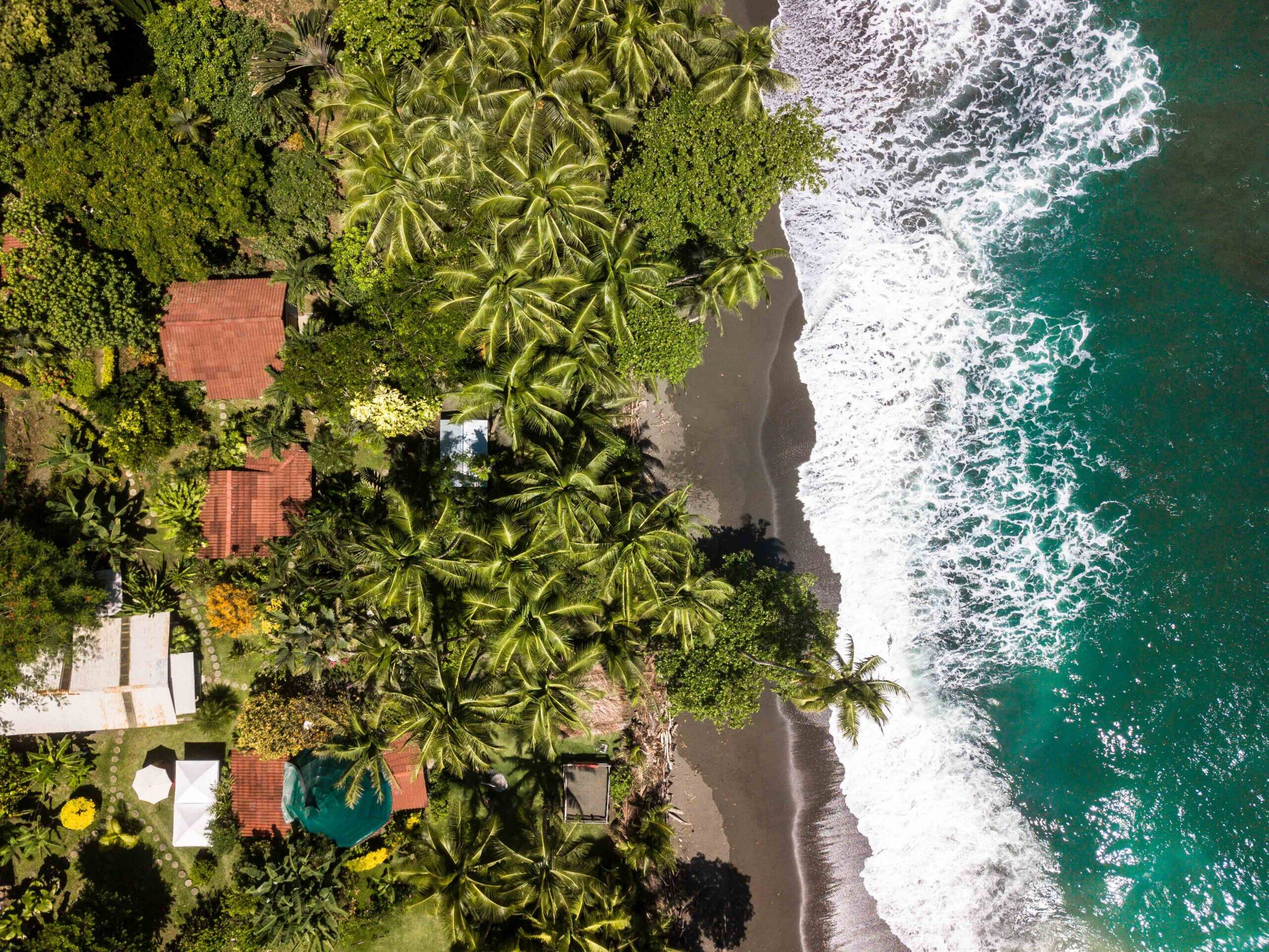 Drone image of Rancho Burica Costa Rica