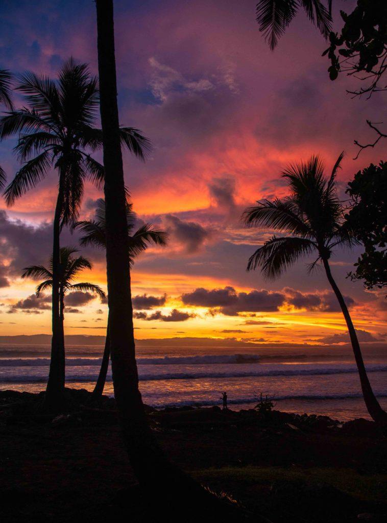 sunset Pavones Costa Rica