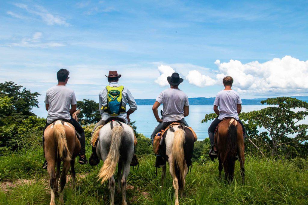 Horseback riding through the jungle Punta Banco Costa Rica