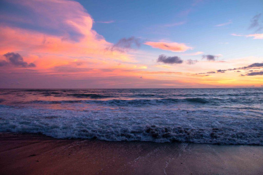 sunrise Rancho Burica beach Costa Rica