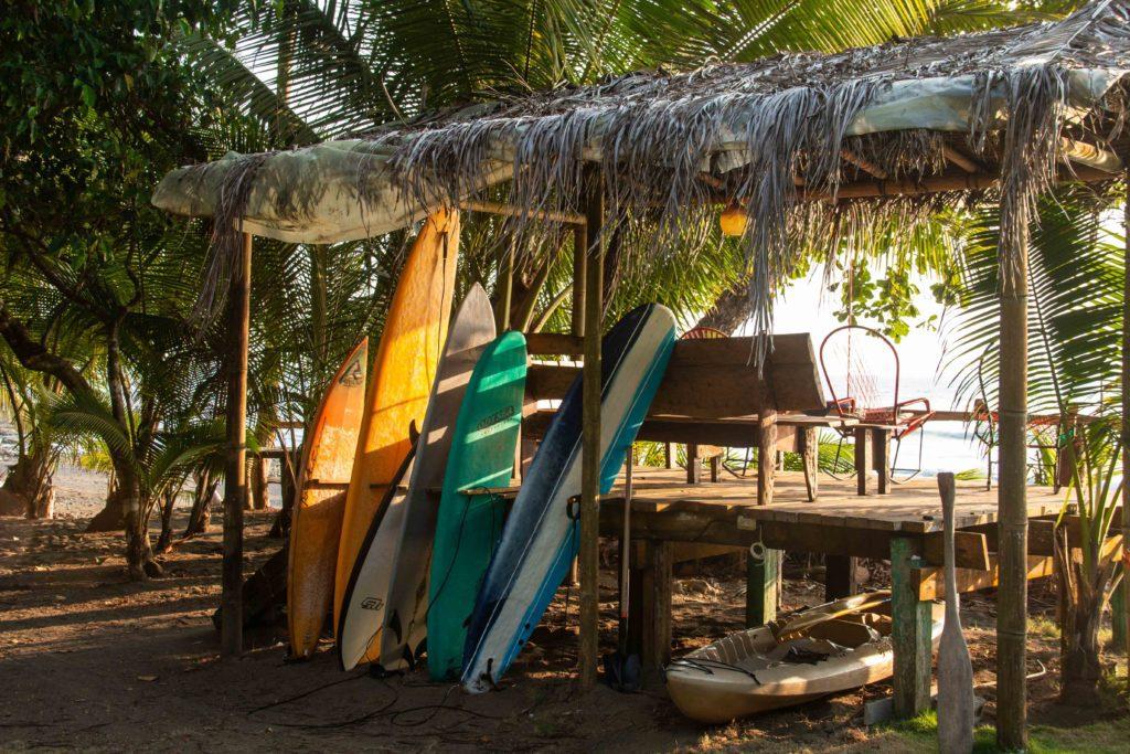 Surf deck Rancho Burica Costa Rica