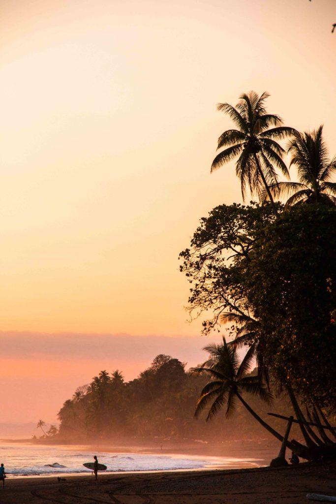sunset beach Punta Banco Costa Rica