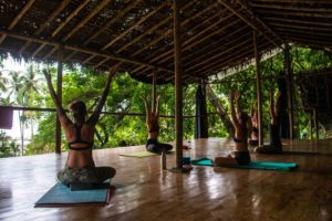 yoga deck Rancho Burica Costa Rica