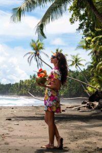 Coconuts on the beach of Punta Banco Costa Rica