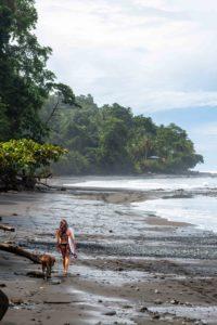 surfer girl at beach Punta Banco