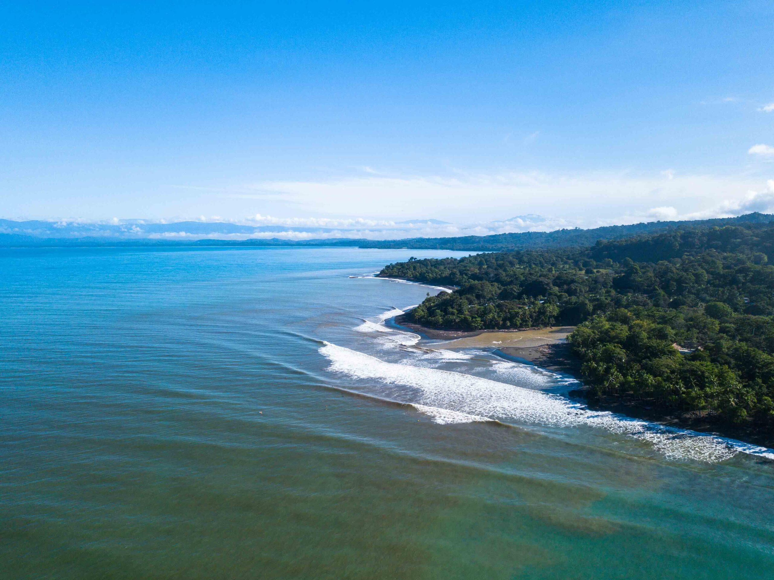 Drone photo of Pavones Costa Rica
