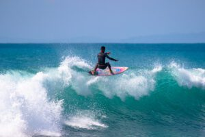 surfer on Pavones wave in Costa Rica