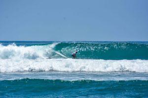 surfer at Rancho Burica wave Punta Banco