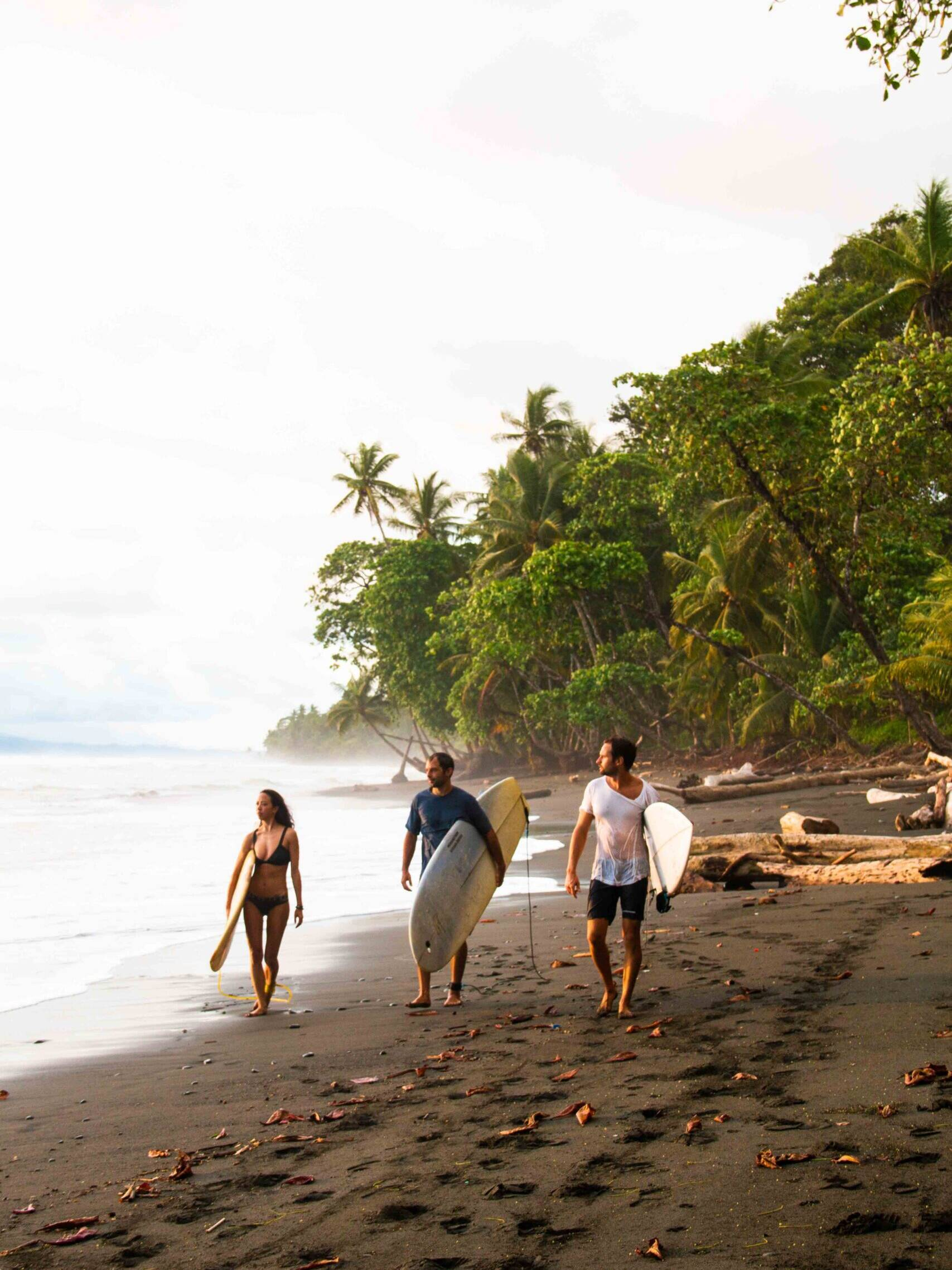 Surfers at Rancho Burica Costa Rica