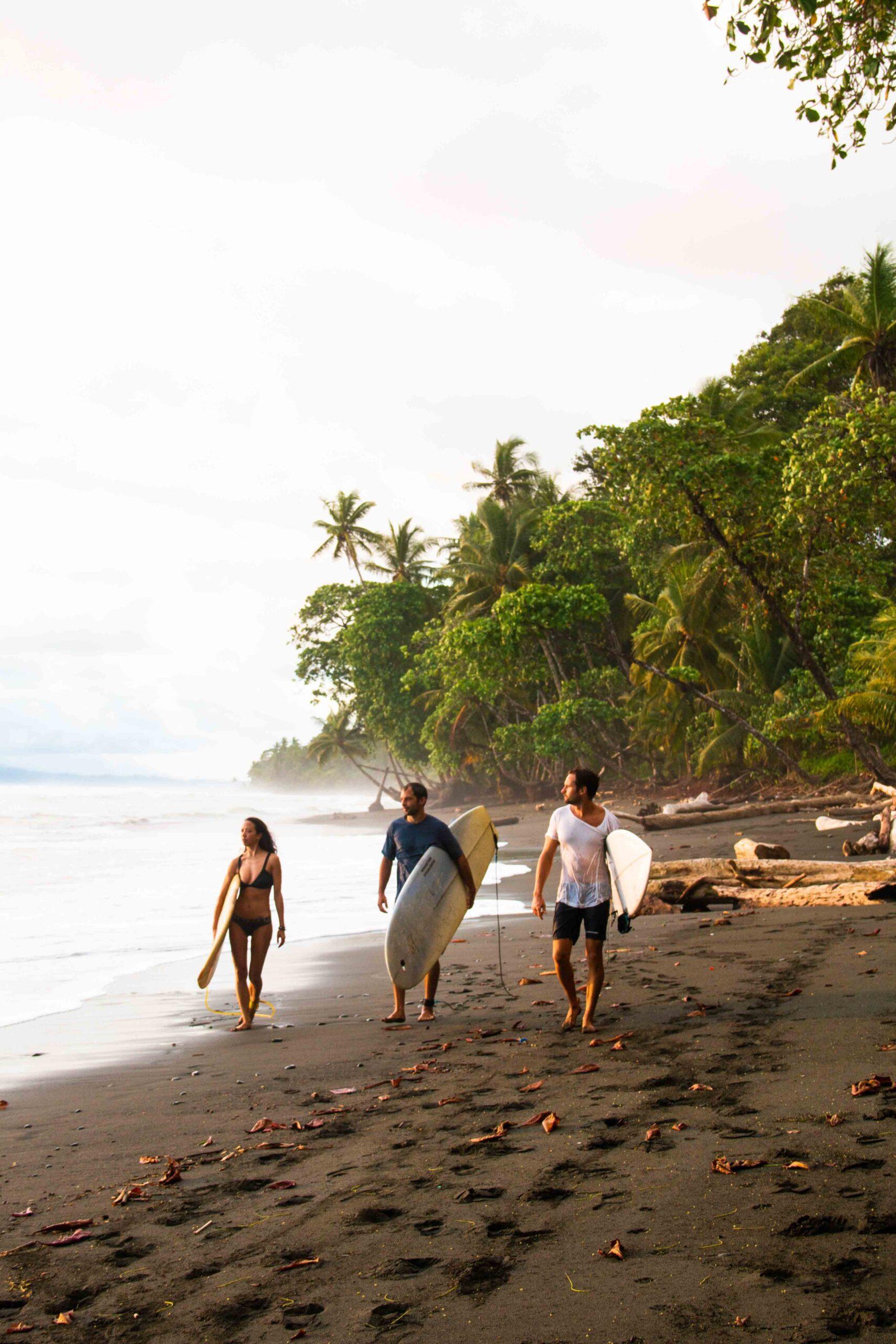 Surfers at Rancho Burica Costa Rica