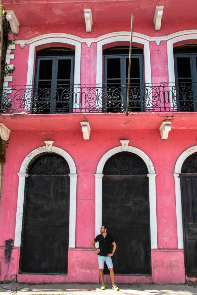 Pink house Casco Viejo Panama City