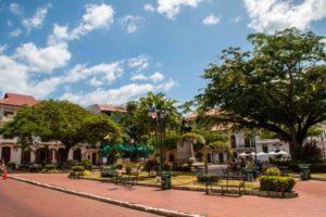 Square in Casco Viejo Panama City