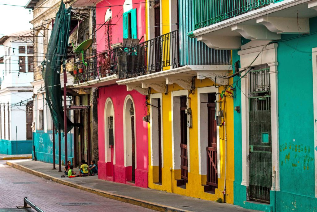 Colorful streets Casco Viejo Panama