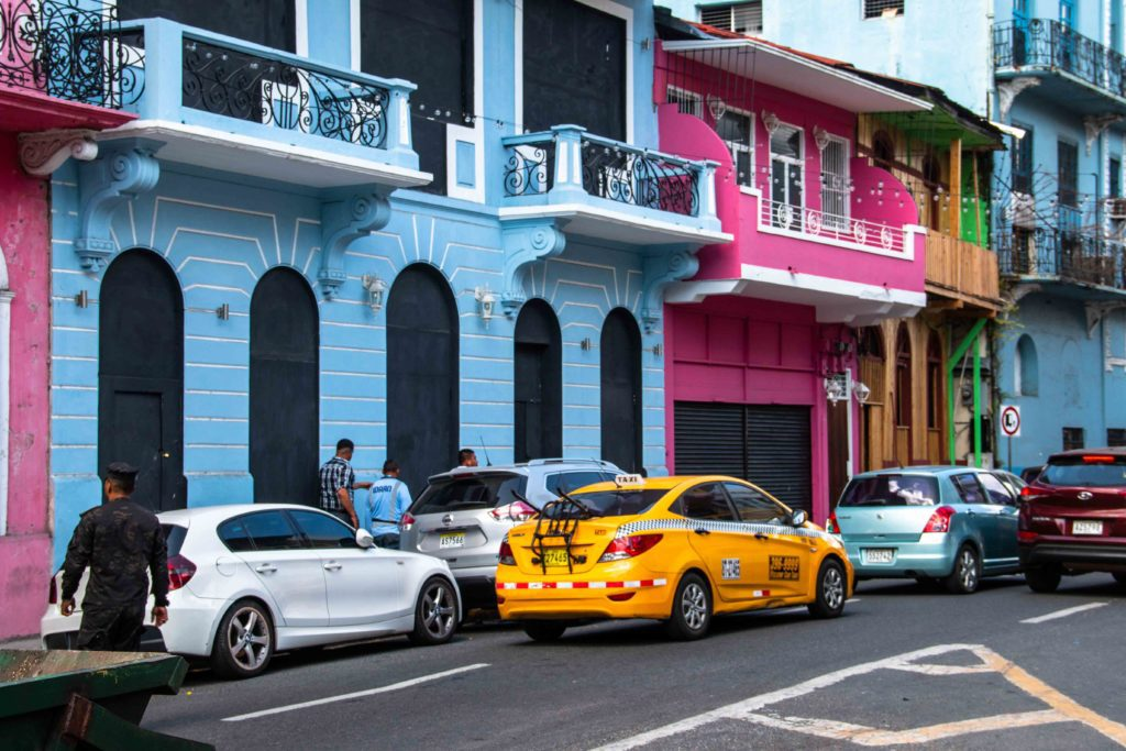 Colorful street life Panama City