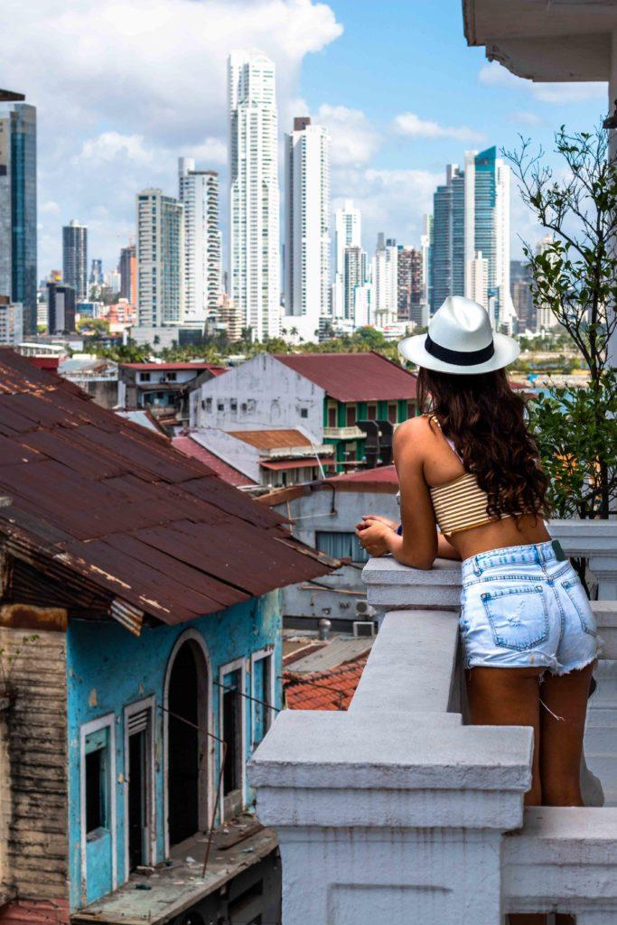 Las Clementinas balcony view Panama City
