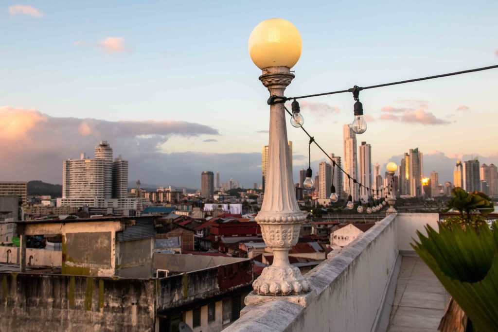 Las Clementinas rooftop view Panama City