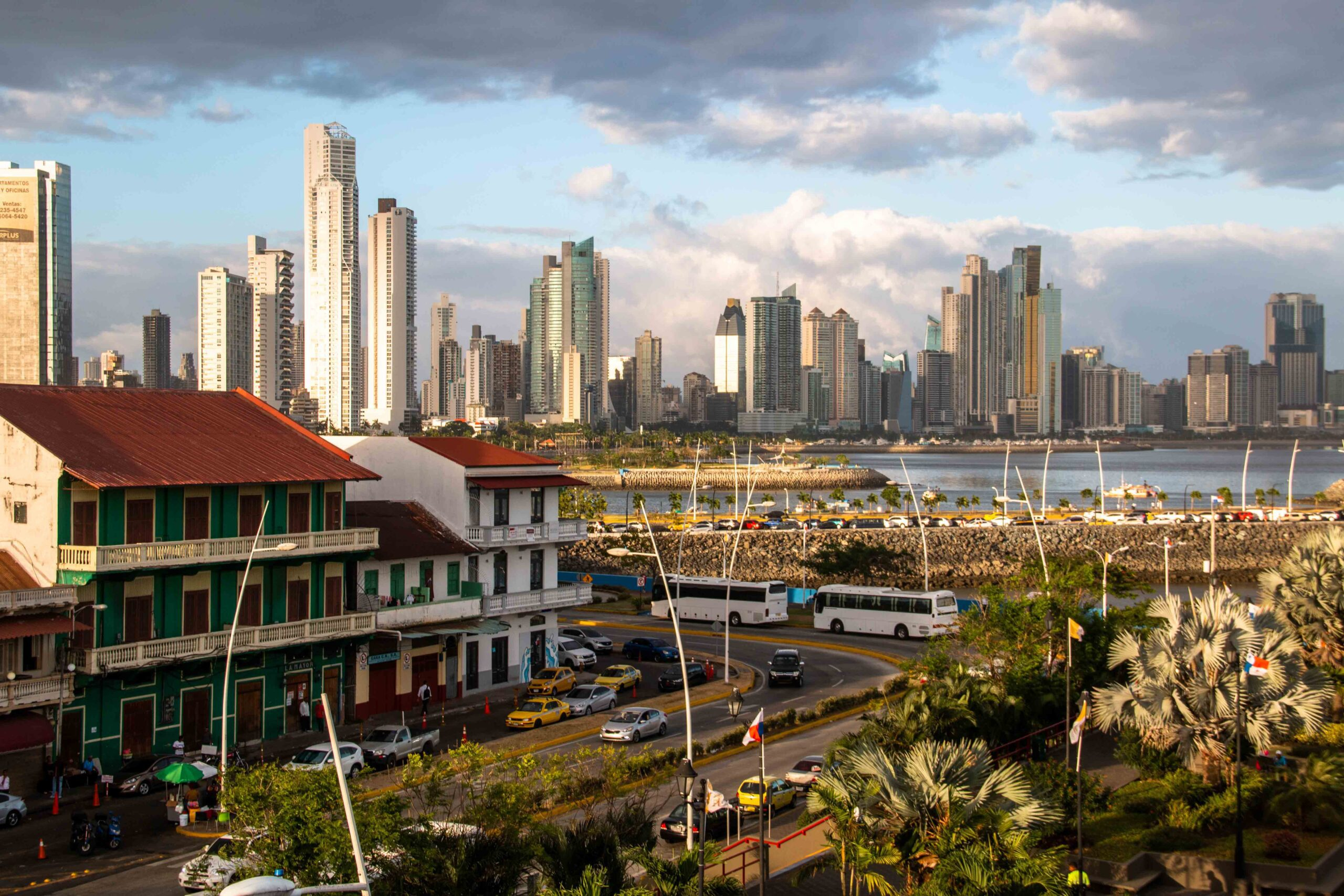 Panama City skyline from Casco Viejo