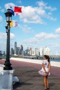 Panama City skyline from Casco Viejo