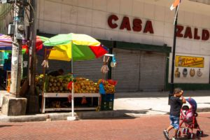 Panama City street life shopping