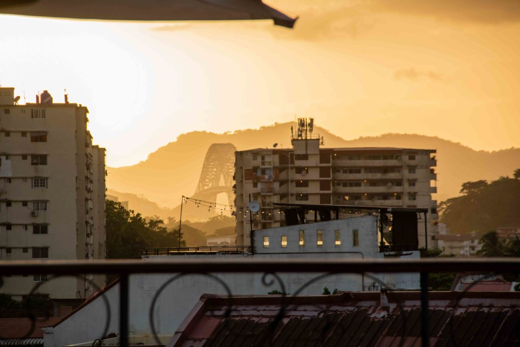 Casa Cusco rooftop sunset view Panama CIty