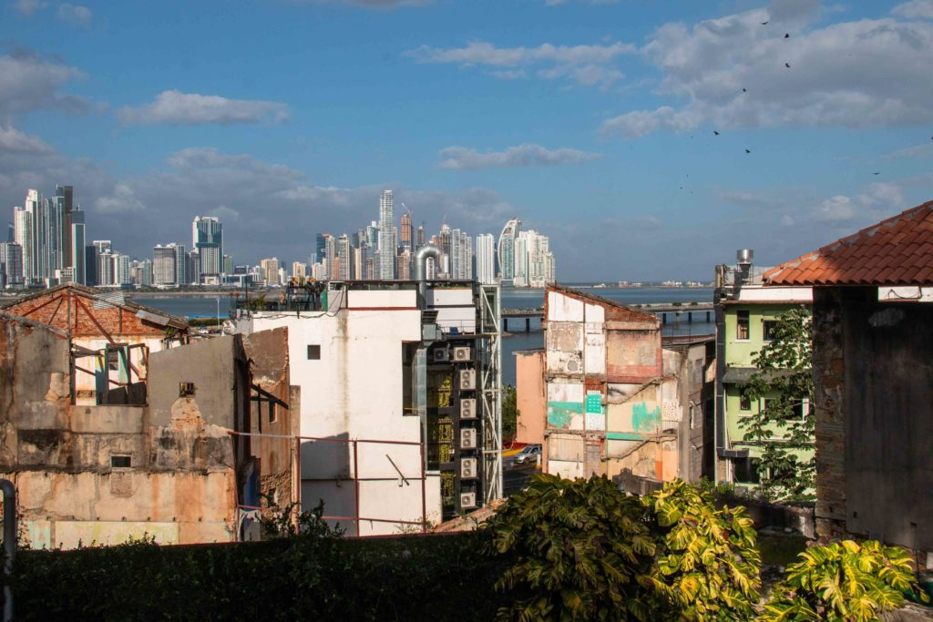 Casco Viejo view Panama City skyline