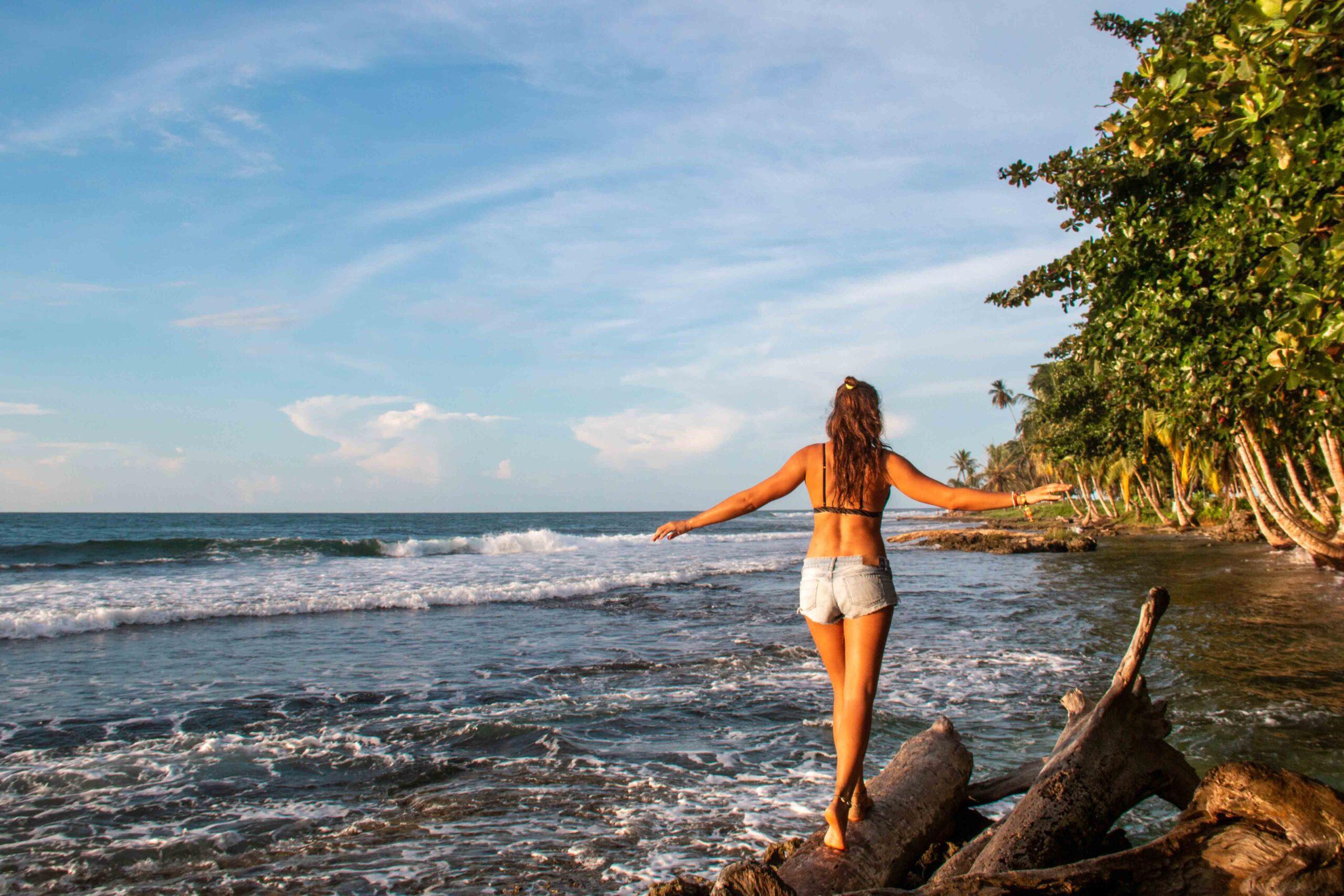 Puerto Viejo beach in Costa Rica