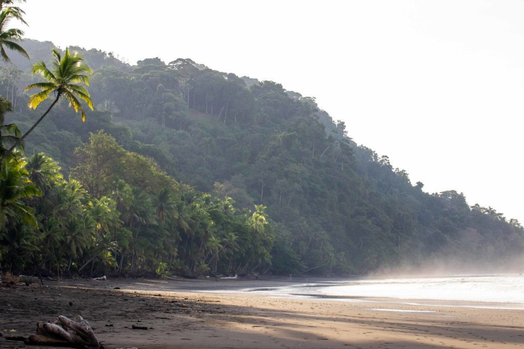 Punta Banco beach during sunrise in Costa Rica