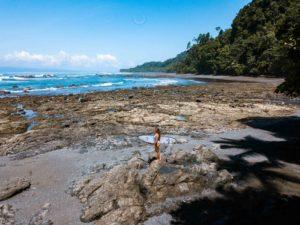 Drone photo of Punta Banco beach in Costa Rica