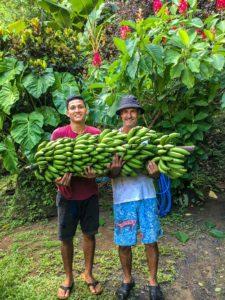 Rancho Burica garden staff in Punta Banco Costa Rica