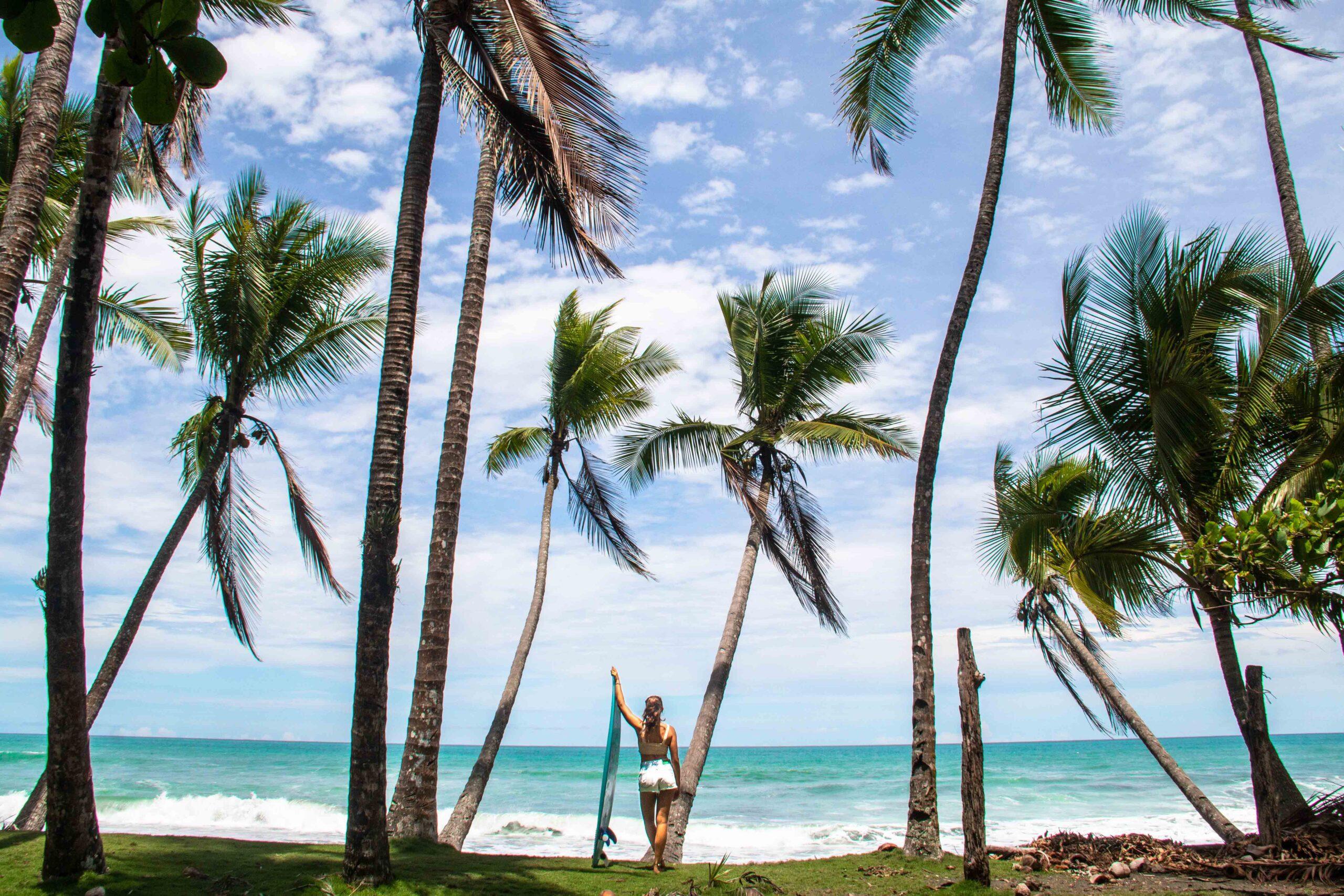 Surfer girl at Punta Banco beach