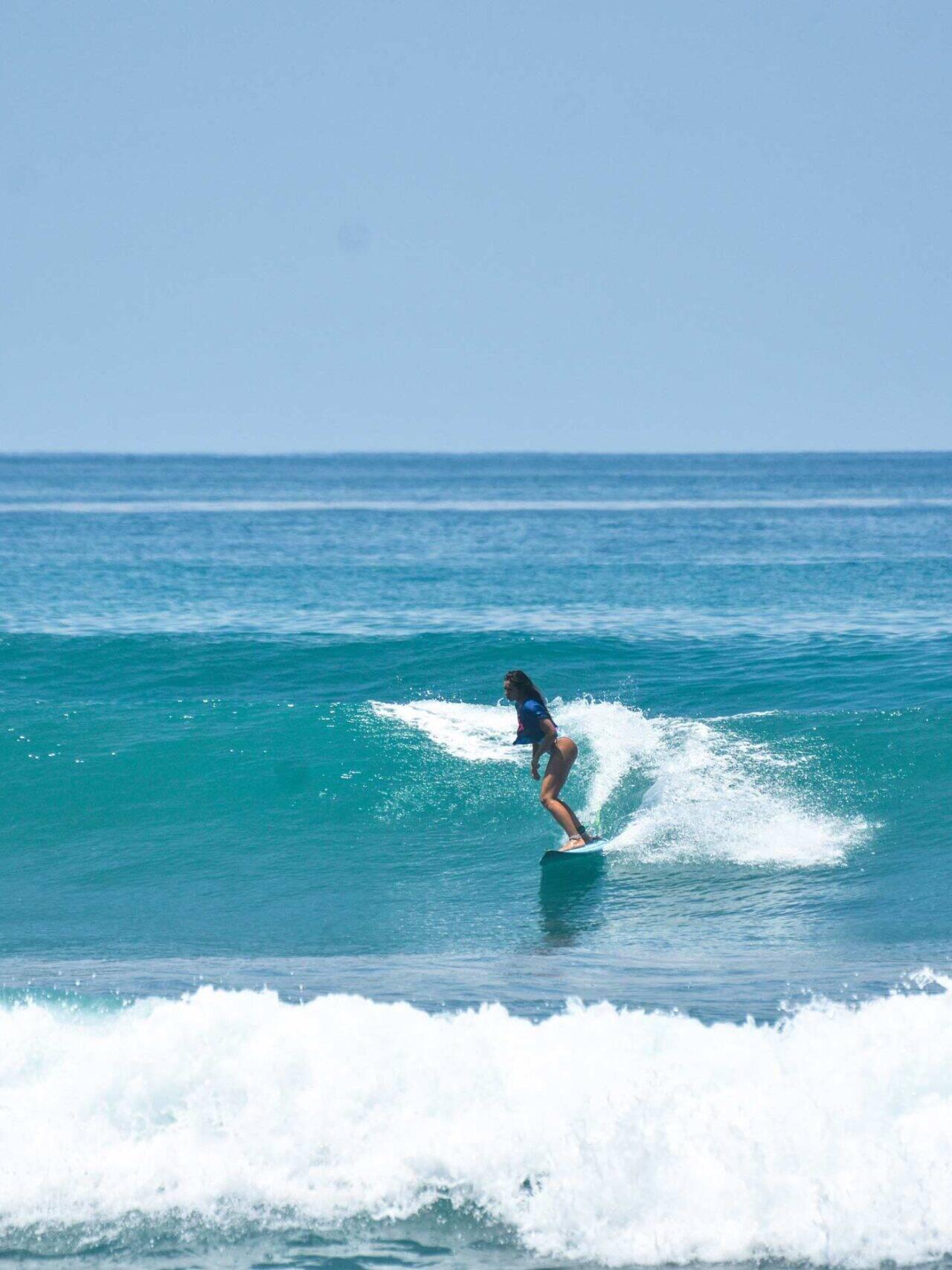 surfer girl in Punta Banco