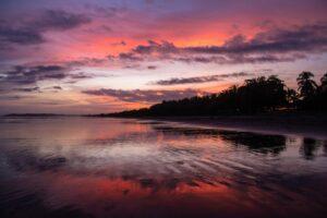 Sunset at Playa Esterillos in Costa Rica