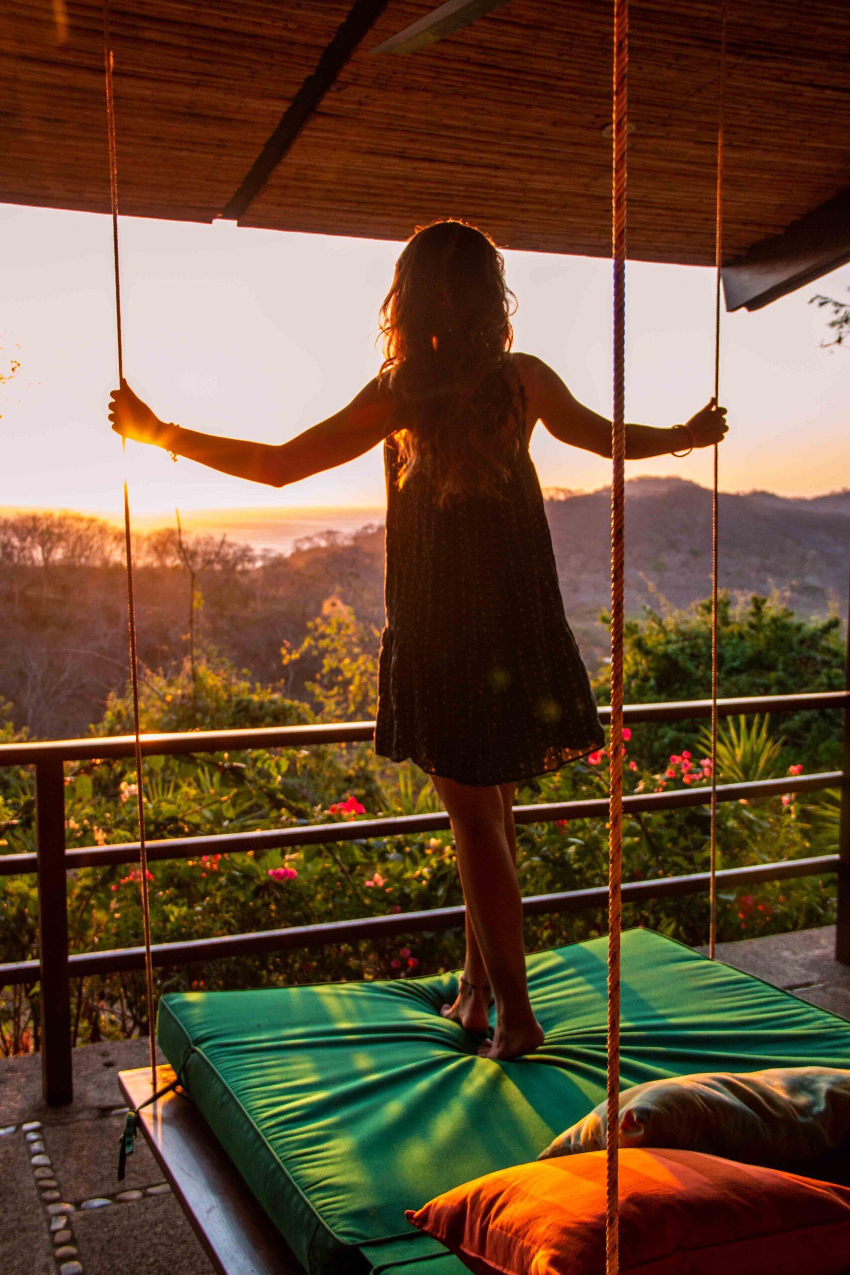 Sunset view from Balcones de Majagual in Nicaragua
