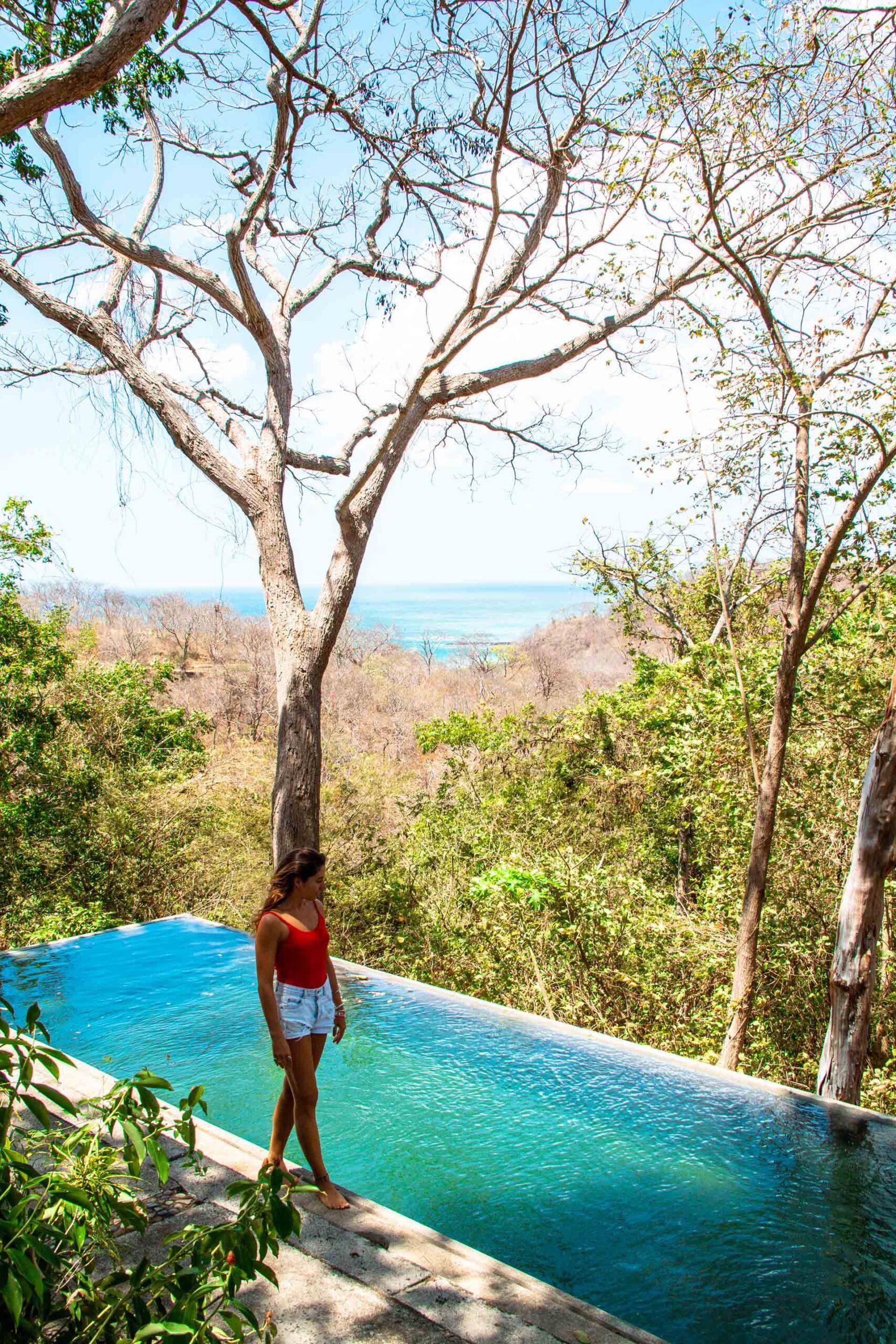 Infinity pool at Balcones de Majagual in Nicaragua
