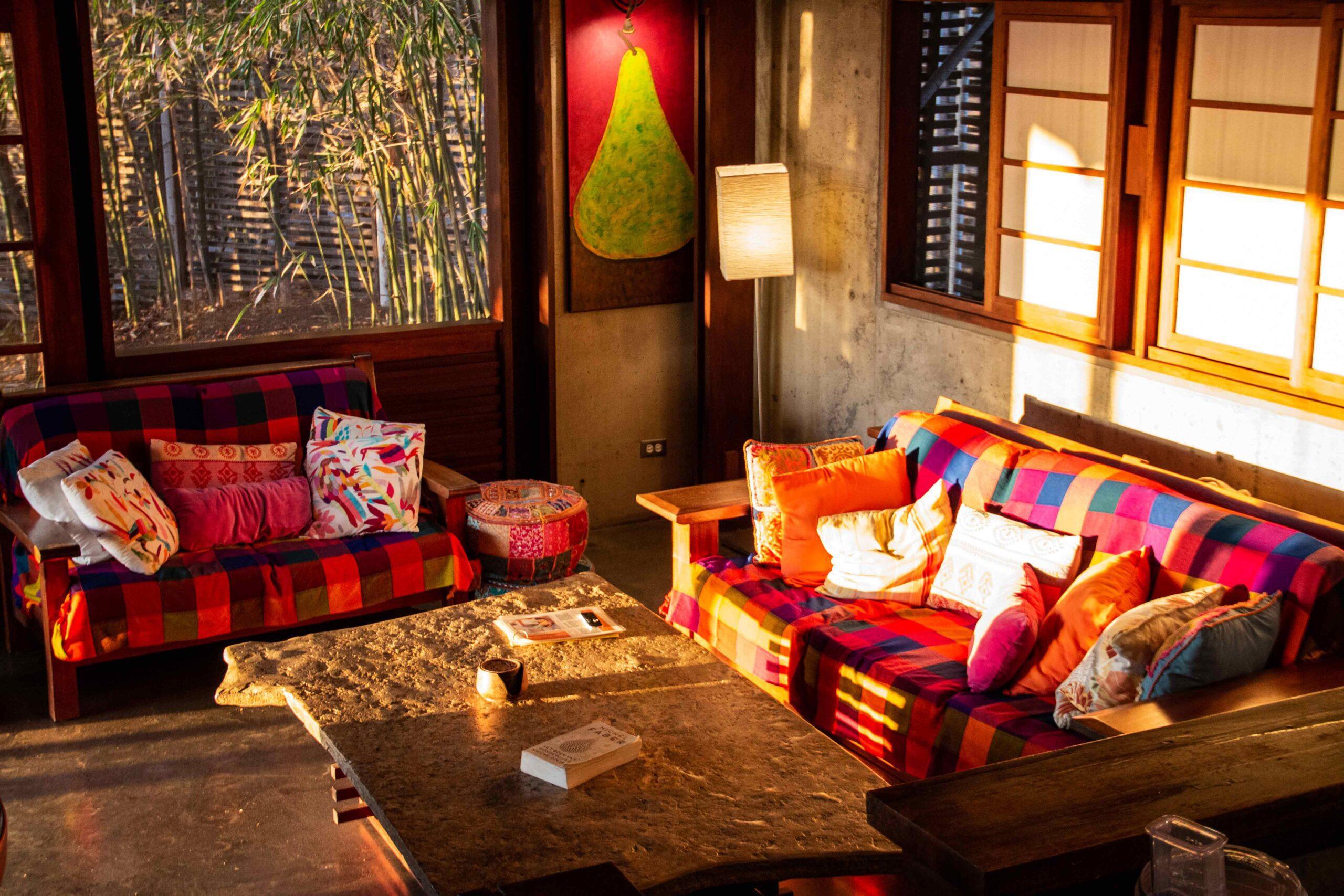 Living room at Balcones de Majagual in Nicaragua