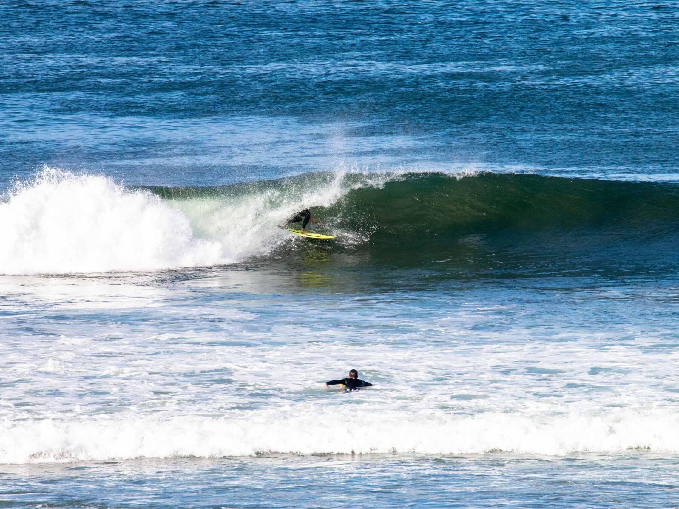 Barrel wave at Playa Colorado Nicaragua