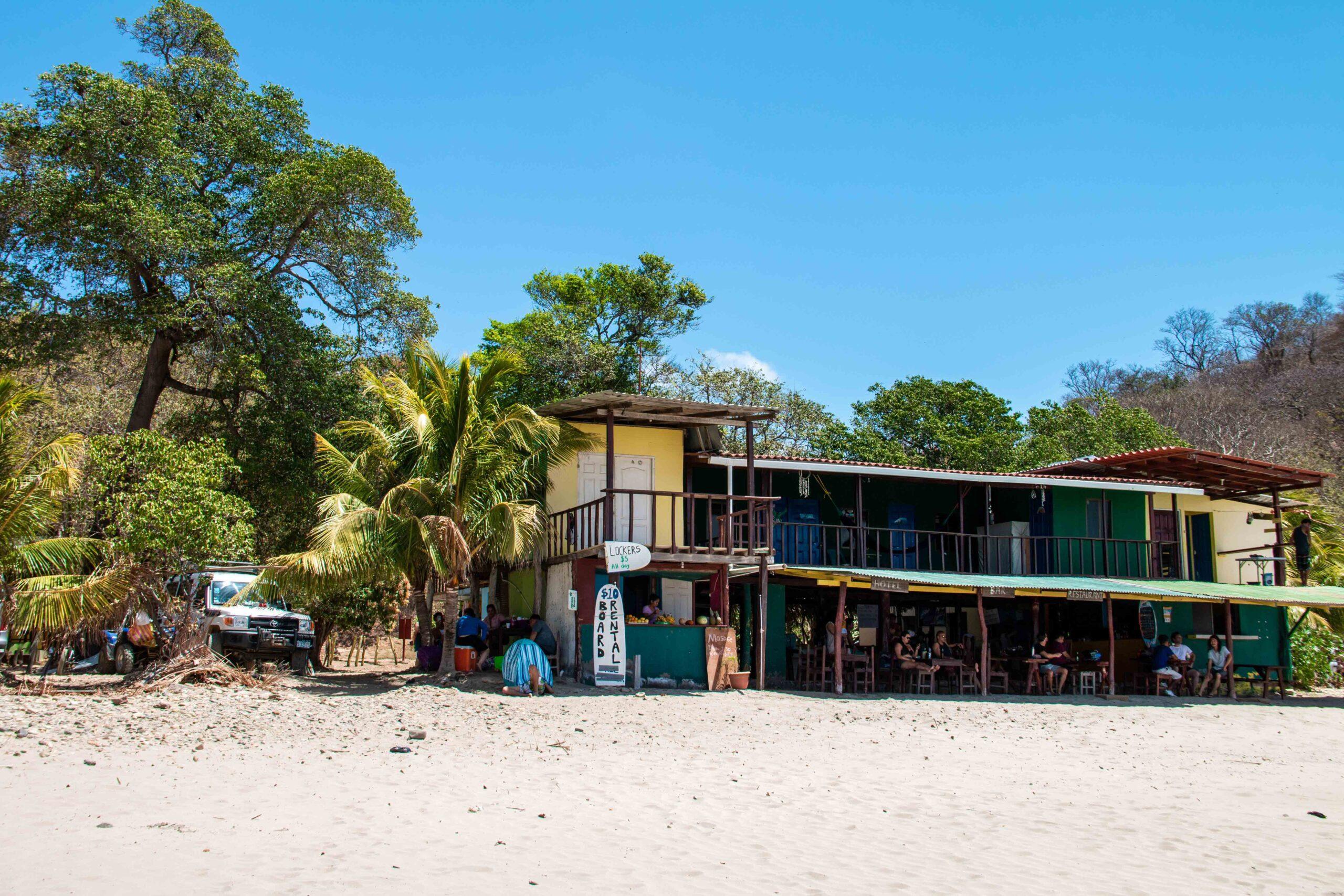 Beach bar at Playa Maderas in Nicaragua