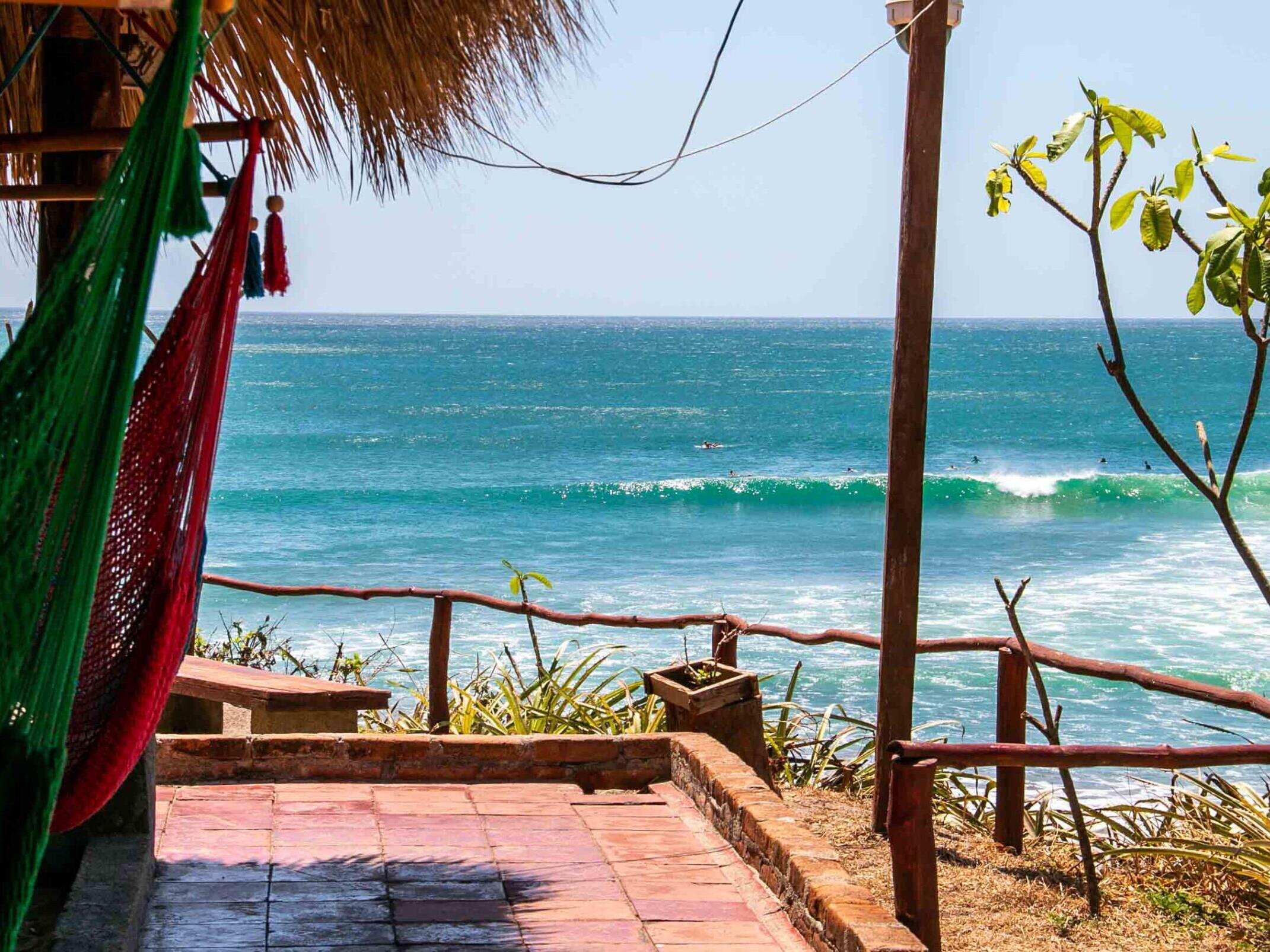 Fina Popoyo beach bar in Nicaragua