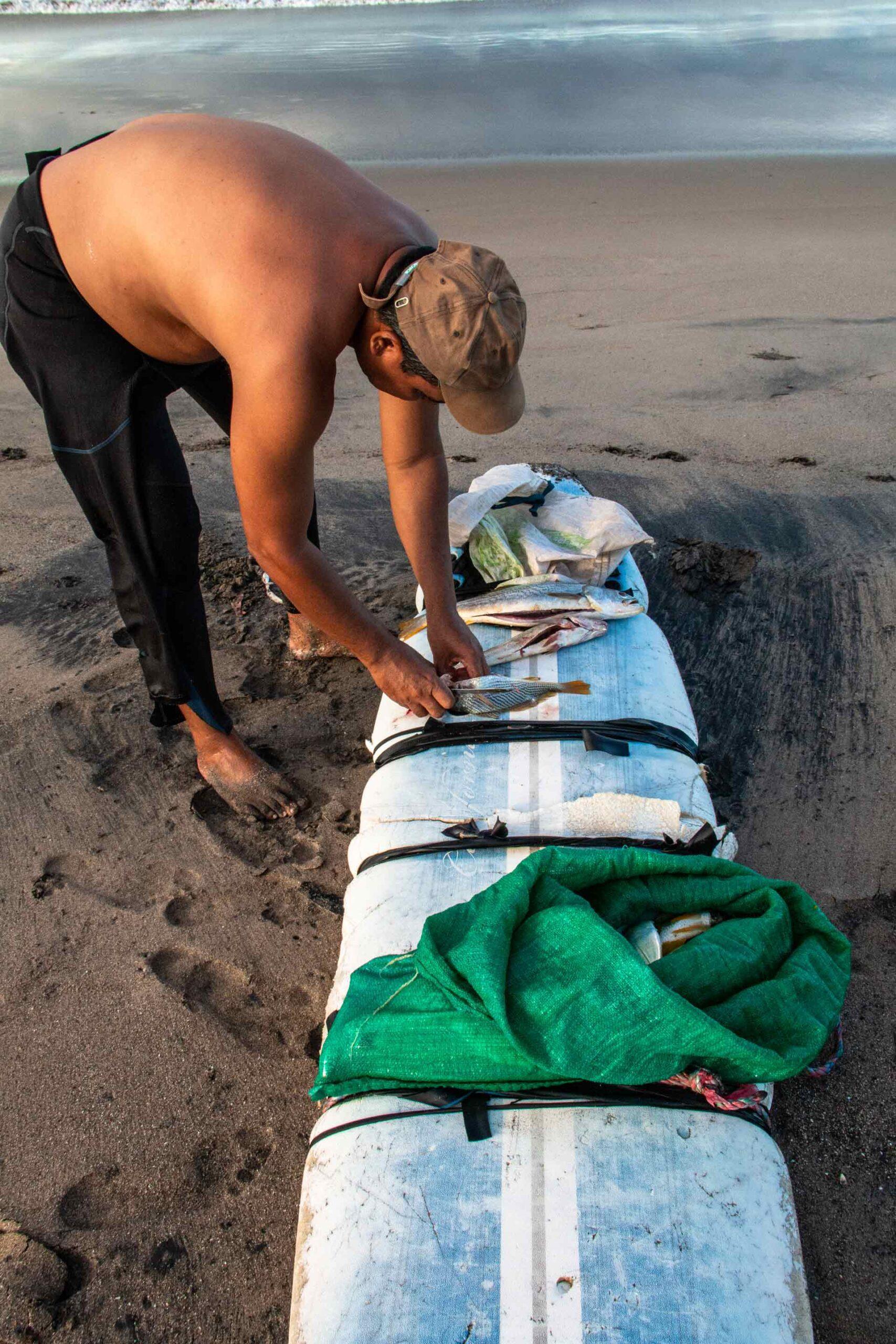 Fisherman at Playa Guasacate Nicaragua