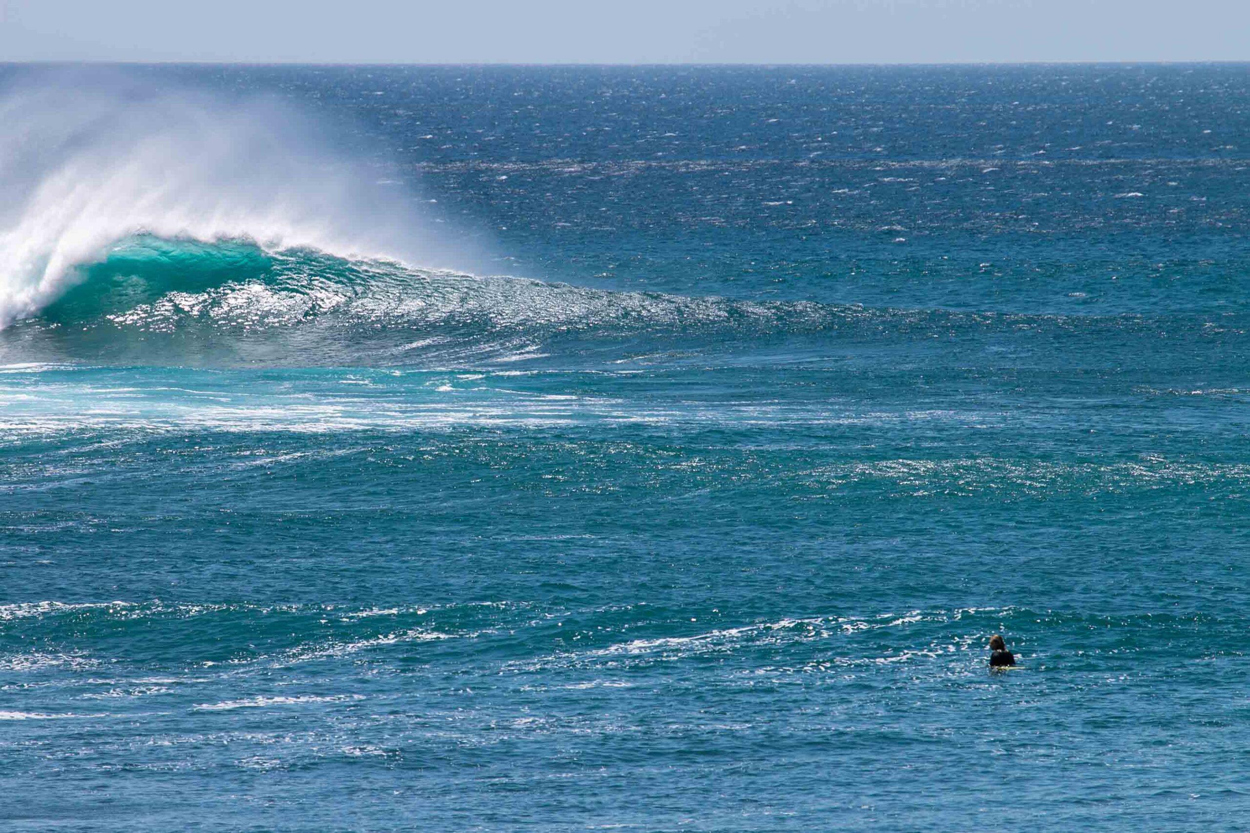 Outer reef Popoyo break in Nicaragua