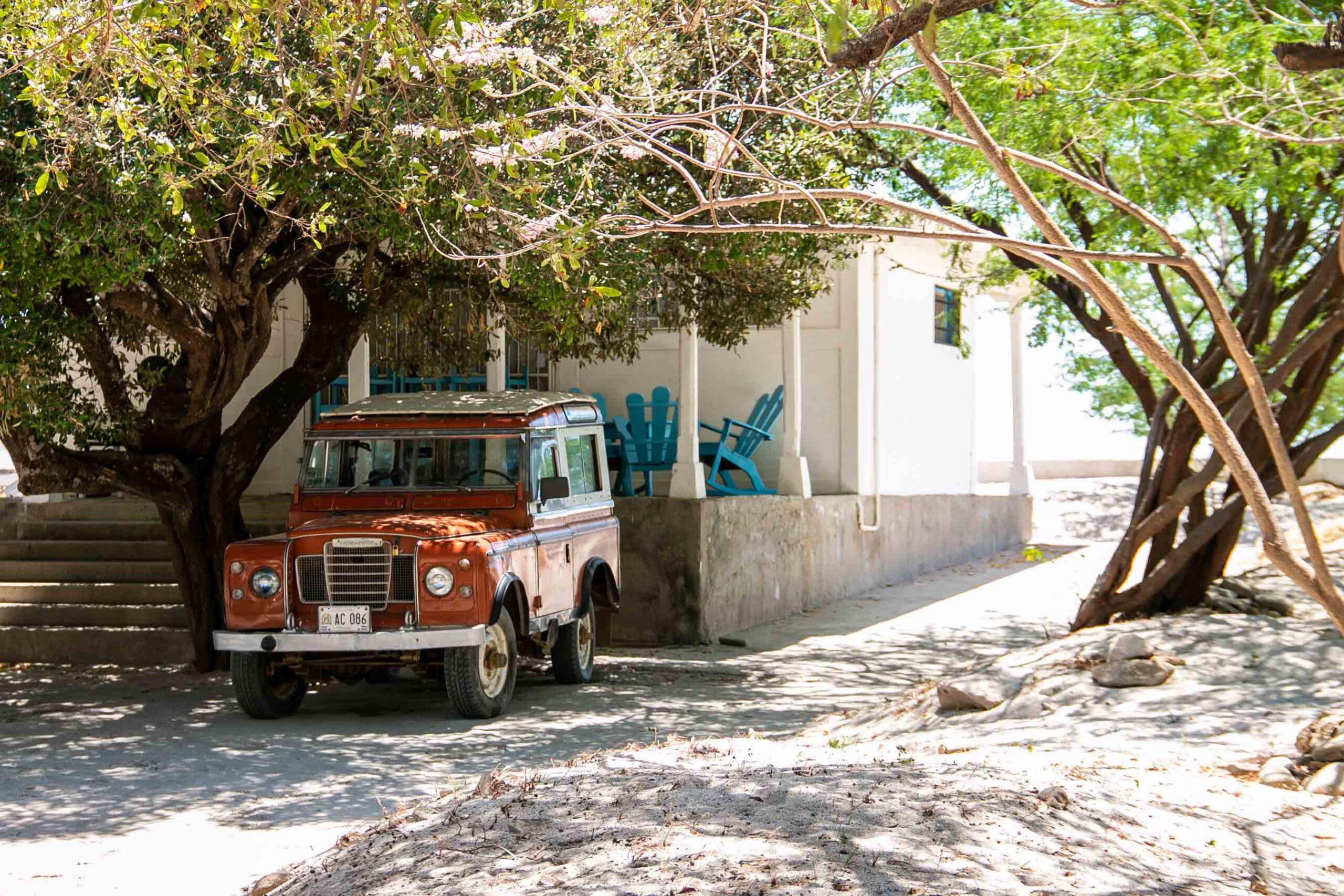 Landrover car at Playa Santana Nicaragua
